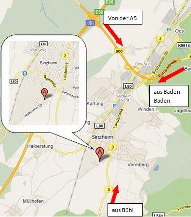 Lageplan der Schule (OpenStreetMap)